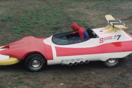 スパイダーマンが乗る専用車。