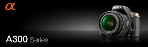 新しいレンズが付いたα300シリーズの画像