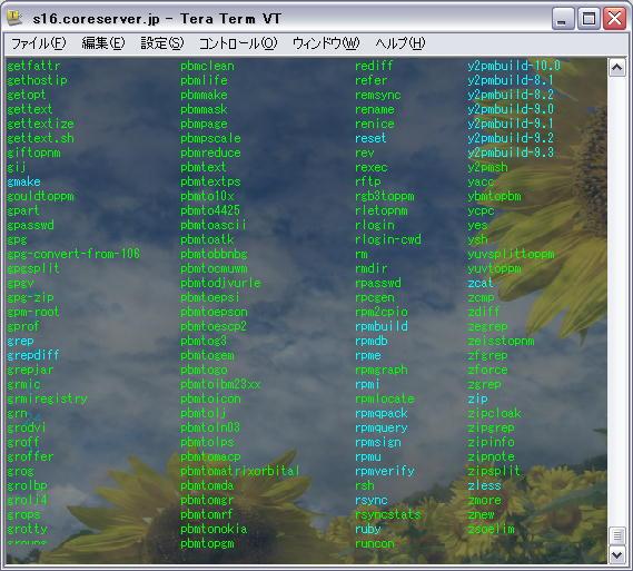 Teraterm で Coreserver へ SSH 接続