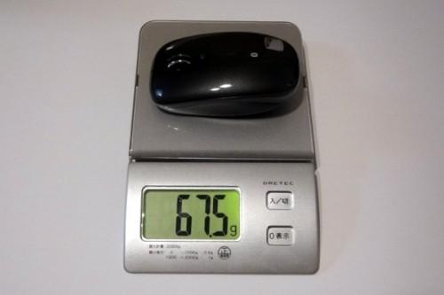 M555b 重量は電池なしで67.5g