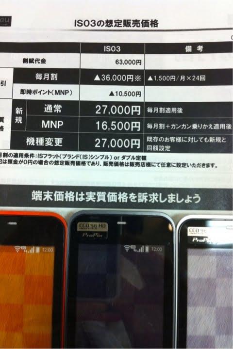 IS03の価格